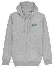 Sweatshirt med hætte og lynlås - 2021 - Unisex - Grå