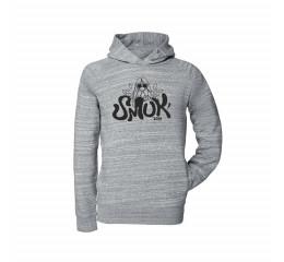 sweatshirt grå med hætte og lommer. 2019