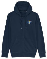Sweatshirt med hætte og lynlås - 2021 - Unisex - Blå
